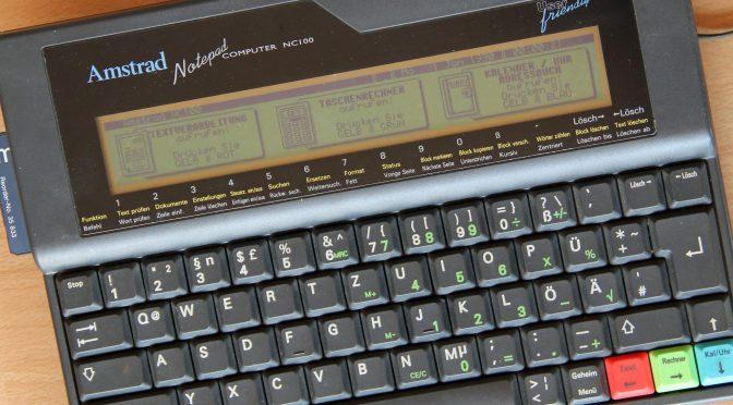 Datenübertragung Amstrad NC100 und PC